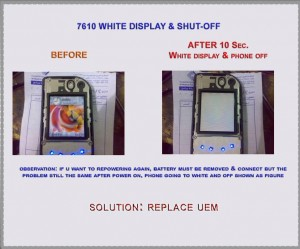 7610 White lcd No Display Problem 2