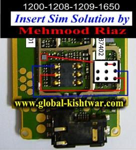 Nokia 1208 Insert SIM Problem