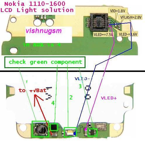 Nokia 1600 Display Light: 1600 Lcd Led Lights Problem 1,Lighting