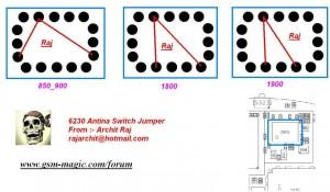 6230, 6230i Antina Switch Ways