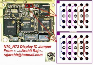 N72, N70 Display Ic Ways Jumpers