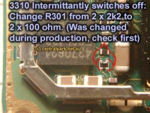 3310, 3410 Battery Empty Problem