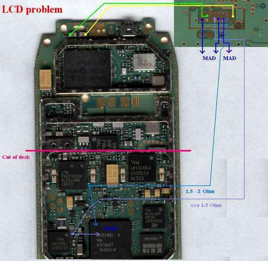 3310, 3410 no lcd display problem mobile repairing