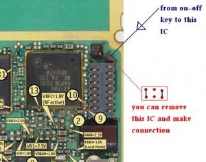 6680, 6681 Power Button Switch Ways 1
