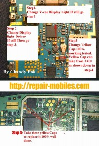 N95 Lcd Display Led Lights Problem 1