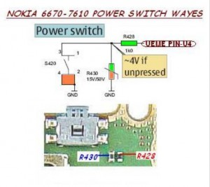 7610 Power Button Switch Ways