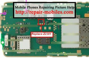 Replace Marked Z2301 MMC IC for C3-00 Memory Card Problem Solution