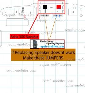 Nokia Asha 300 Speaker Ways Jumpers