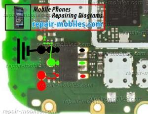 Nokia Asha 202, 203 Battery Connector Ways Jumpers