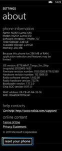 Nokia Lumia 510 Reset Phone Guide