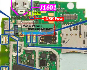 Nokia Lumia 610C USB Troubleshoot Components