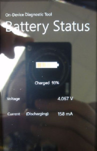 Nokia Lumia 610C Battery Status